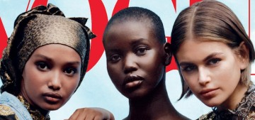 Vogue highlights young models of color & Kaia Gerber for their April cover