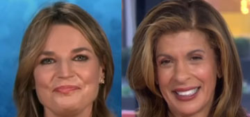 Hoda, Savannah and Al were all in different locations on the Today show