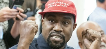 Kanye West: 'I'm a black guy with a red hat, can you imagine?'