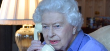 This photo of Queen Elizabeth & Boris Johnson talking on the phone is bonkers