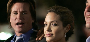 Val Kilmer previously said that he didn't date Angelina Jolie, but they did kiss once