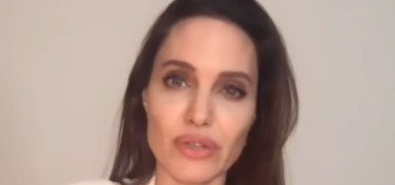 Angelina Jolie did a video with Time's editor about the global effect of a pandemic