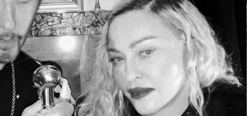 Did Madonna fly to the Hamptons for Steven Klein's birthday party?