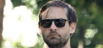 Tobey Maguire, 44, and girlfriend Tatiana Dieteman, 27, went for a walk in LA