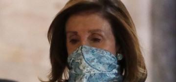 Speaker Nancy Pelosi is serving color-coordinated mask looks in DC