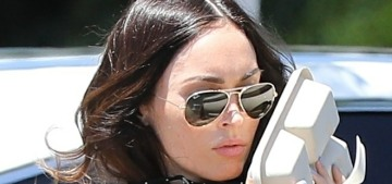 Megan Fox ditched her mask before she was completely out of an LA market