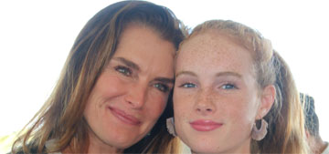 Brooke Shields' daughter smacked her hard in the face with a purse for TikTok
