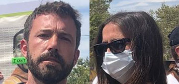 Ben Affleck and Ana de Armas protested in Venice, CA together