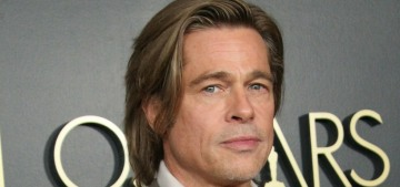 Brad Pitt rode his BMW motorcycle around the Black Lives Matter protest