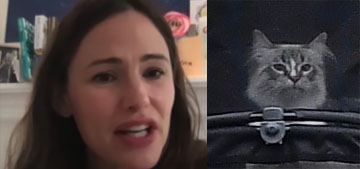 Jennifer Garner explains how they ended up getting a stroller for their cat