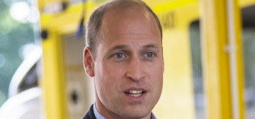 Prince William steps out in Norfolk, without a mask, to thank first responders