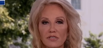 Kellyanne Conway looked like Satan's Beauty Queen on a live Fox News interview