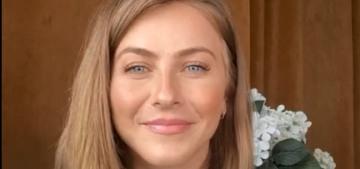 Julianne Hough's new brunette hair 'is a reflection of her feelings, she's super upset'