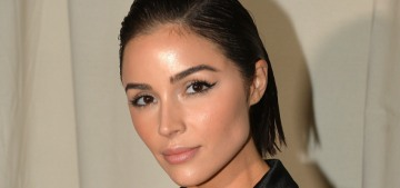 Olivia Culpo shows off her $5350 Ralph & Russo mullet-robe: love it or hate it?