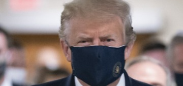 Donald Trump wore a mask in public for the first time, four months into the pandemic