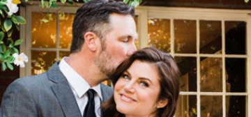Tiffani Thiessen had an at-home vow renewal for her 15th anniversary