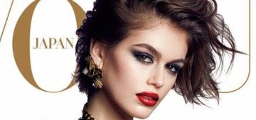 Kaia Gerber did a leather & lace themed editorial for Vogue Japan: too much or fine?
