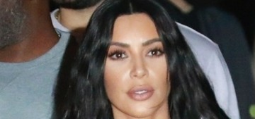 Kim Kardashian is visiting Kanye in Wyoming & she was seen crying
