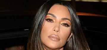 Kim Kardashian went back to LA & she left Kanye in Wyoming, 'where he wants to live'
