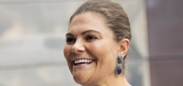 Princess Victoria & Prince Daniel step out in Stockholm without masks (again)