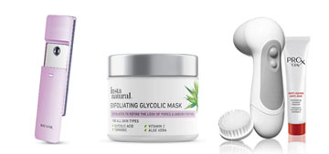 A peptide serum complex, a facial mister and a crop top that's also a sports bra