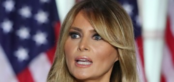 Melania Trump delivered her RNC speech from the new White Power rose garden