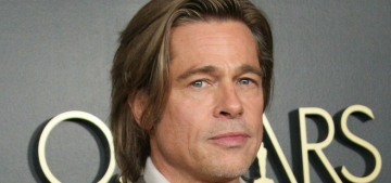 How long have Brad Pitt & model Nicole Poturalski been happening?