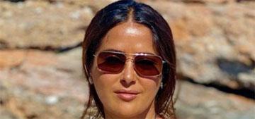 Salma Hayek posts video of herself breaking plates in Greece