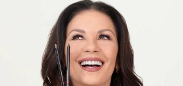 Was Catherine Zeta-Jones drunk in a video promoting her eye pencil?