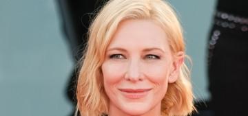 Cate Blanchett in Esteban Cortazar at the Venice Film Festival: ill-fitting or fine?