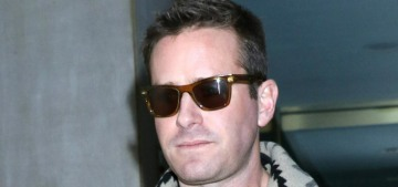Armie Hammer was seen out & looking coupled-up with Rumer Willis in LA