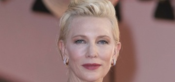 Cate Blanchett repeats a spectacular custom McQueen at the Venice Film Festival