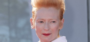 """Tilda Swinton wore another spectacular Chanel couture look in Venice"" links"