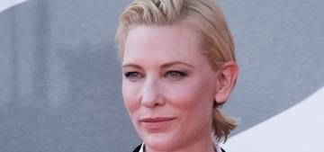 Cate Blanchett in an Armani blazer at the Venice Film Festival: so chic??