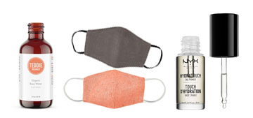Eco-friendly face masks, a hydrating primer and earbuds that stay in