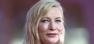 Cate Blanchett in a 2015 Armani look at the Venice Film Festival: morose or amazing?