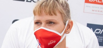 How is it that Princess Charlene's baby bangs look even worse now?!