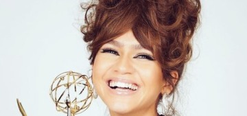 Zendaya won her Best Actress Emmy in Armani & Christopher John Rogers