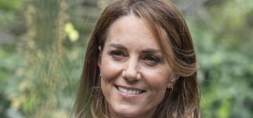 Duchess Kate wore M&S trousers in London to talk about the lockdown