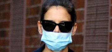 Katie Holmes is living in her own pandemic-themed Nora Ephron rom-com