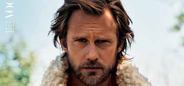 Alex Skarsgard is beautiful on L'Uomo Vogue, talks about 'Viking revenge' stories