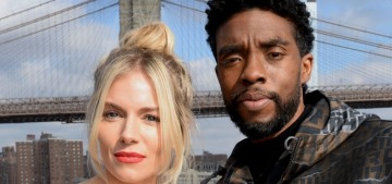 Sienna Miller: Chadwick Boseman donated part of his salary for my paycheck