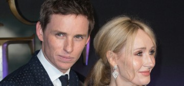 Eddie Redmayne sent JK Rowling a note of support for the 'vitriol' she receives