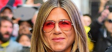 Jennifer Aniston introduces her new rescue puppy, Lord Chesterfield, on IG