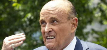 Rudy Giuliani caught with his hand down his pants with a woman posing as a 15-year-old