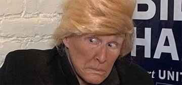 Glenn Close as Trump binging fast food and more celebrity Halloween costumes