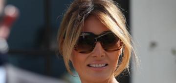 Melania Trump wore a $4500 Gucci dress & no mask to vote in-person in Florida