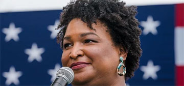 Stacey Abrams: 'An orange menace of putrescence will no longer occupy the WH'