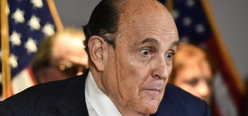 Rudy Giuliani sweated off his hair dye in yet another bonkers press conference