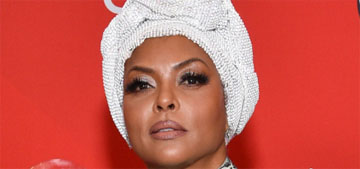 Taraji P. Henson in Armani Privé at the AMAs: needs a real mask?